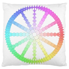 Polygon Evolution Wheel Geometry Large Cushion Case (two Sides)