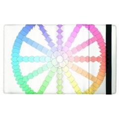 Polygon Evolution Wheel Geometry Apple Ipad 3/4 Flip Case