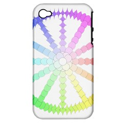 Polygon Evolution Wheel Geometry Apple Iphone 4/4s Hardshell Case (pc+silicone)