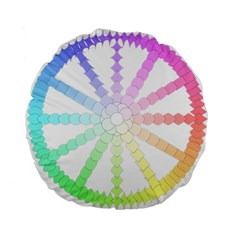Polygon Evolution Wheel Geometry Standard 15  Premium Round Cushions