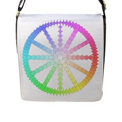Polygon Evolution Wheel Geometry Flap Messenger Bag (l)