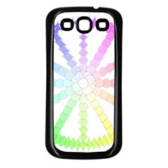 Polygon Evolution Wheel Geometry Samsung Galaxy S3 Back Case (black)