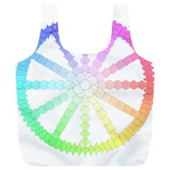 Polygon Evolution Wheel Geometry Full Print Recycle Bags (l)