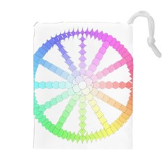 Polygon Evolution Wheel Geometry Drawstring Pouches (Extra Large)