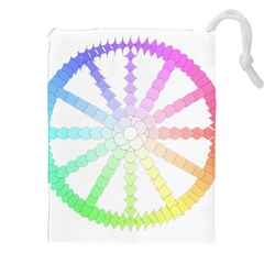 Polygon Evolution Wheel Geometry Drawstring Pouches (xxl)