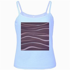 Lines Swinging Texture Background Baby Blue Spaghetti Tank