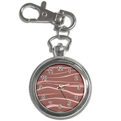 Lines Swinging Texture Background Key Chain Watches