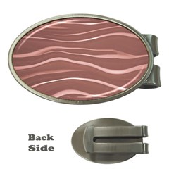 Lines Swinging Texture Background Money Clips (oval)