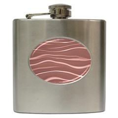 Lines Swinging Texture Background Hip Flask (6 oz)