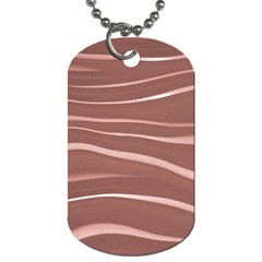 Lines Swinging Texture Background Dog Tag (two Sides)