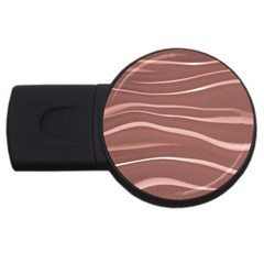 Lines Swinging Texture Background Usb Flash Drive Round (2 Gb)