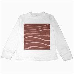 Lines Swinging Texture Background Kids Long Sleeve T-Shirts