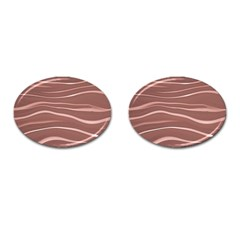 Lines Swinging Texture Background Cufflinks (oval)