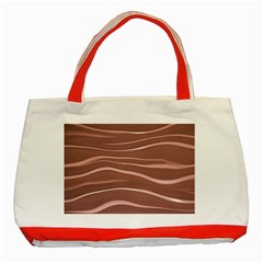 Lines Swinging Texture Background Classic Tote Bag (red)