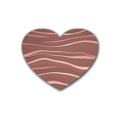Lines Swinging Texture Background Rubber Coaster (heart)