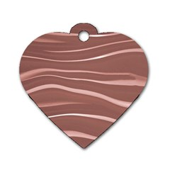 Lines Swinging Texture Background Dog Tag Heart (one Side)