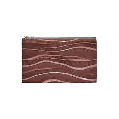 Lines Swinging Texture Background Cosmetic Bag (small)