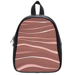 Lines Swinging Texture Background School Bags (small)