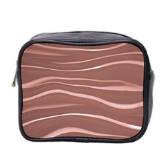 Lines Swinging Texture Background Mini Toiletries Bag 2 Side