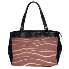 Lines Swinging Texture Background Office Handbags (2 Sides)