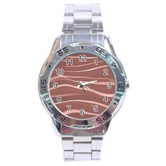 Lines Swinging Texture Background Stainless Steel Analogue Watch