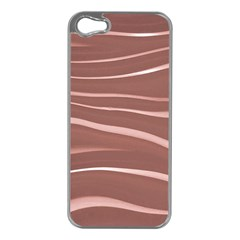 Lines Swinging Texture Background Apple Iphone 5 Case (silver)