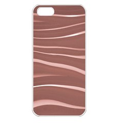 Lines Swinging Texture Background Apple Iphone 5 Seamless Case (white)