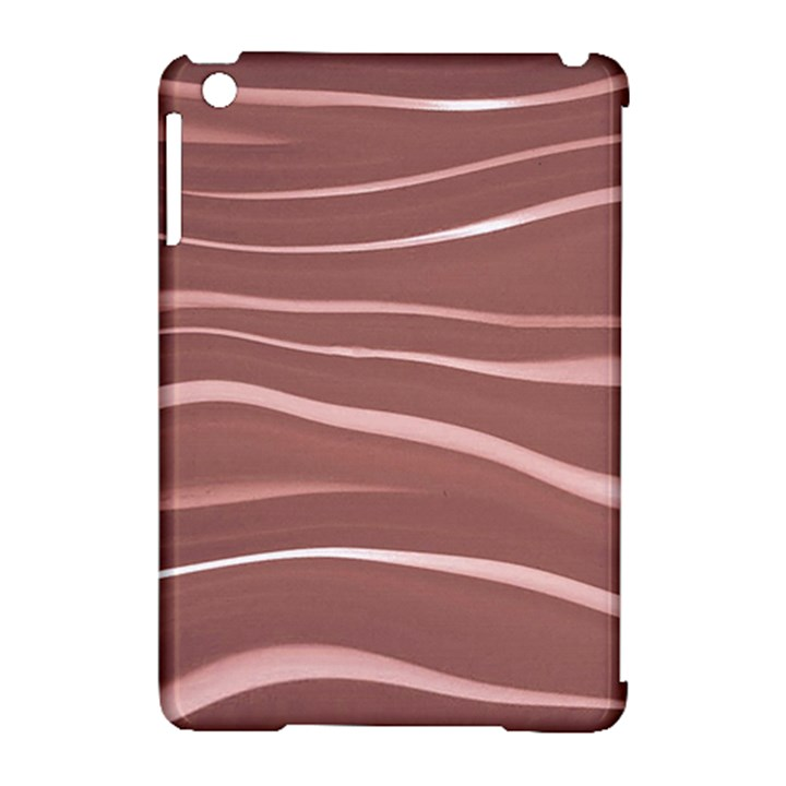 Lines Swinging Texture Background Apple iPad Mini Hardshell Case (Compatible with Smart Cover)