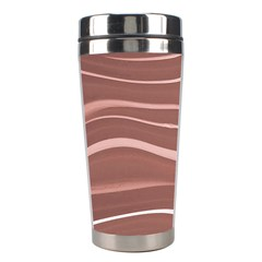 Lines Swinging Texture Background Stainless Steel Travel Tumblers
