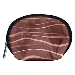 Lines Swinging Texture Background Accessory Pouches (Medium)