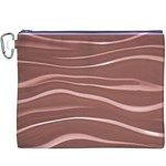 Lines Swinging Texture Background Canvas Cosmetic Bag (XXXL) Front