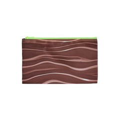 Lines Swinging Texture Background Cosmetic Bag (xs)