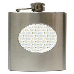Baby Cloudy Star Cloud Rainbow Blue Sky Hip Flask (6 Oz)