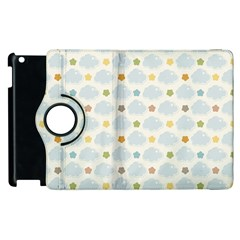 Baby Cloudy Star Cloud Rainbow Blue Sky Apple iPad 3/4 Flip 360 Case