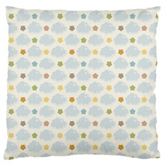 Baby Cloudy Star Cloud Rainbow Blue Sky Large Flano Cushion Case (Two Sides)