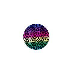 Cheetah Neon Rainbow Animal 1  Mini Buttons