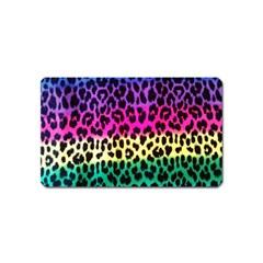 Cheetah Neon Rainbow Animal Magnet (Name Card)