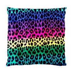 Cheetah Neon Rainbow Animal Standard Cushion Case (Two Sides)