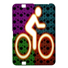 Bike Neon Colors Graphic Bright Bicycle Light Purple Orange Gold Green Blue Kindle Fire Hd 8 9