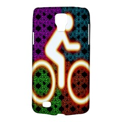 Bike Neon Colors Graphic Bright Bicycle Light Purple Orange Gold Green Blue Galaxy S4 Active