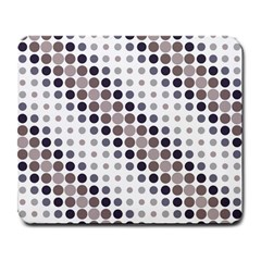 Circle Blue Grey Line Waves Black Large Mousepads