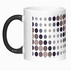 Circle Blue Grey Line Waves Black Morph Mugs
