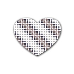 Circle Blue Grey Line Waves Black Heart Coaster (4 pack)