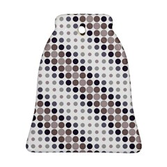 Circle Blue Grey Line Waves Black Bell Ornament (Two Sides)