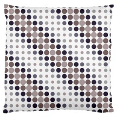 Circle Blue Grey Line Waves Black Large Cushion Case (Two Sides)