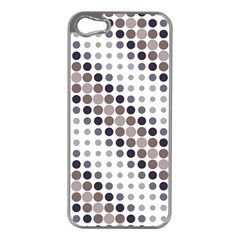 Circle Blue Grey Line Waves Black Apple iPhone 5 Case (Silver)