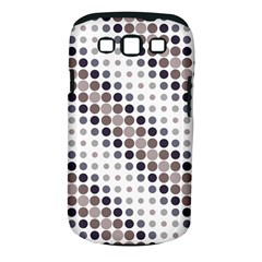 Circle Blue Grey Line Waves Black Samsung Galaxy S III Classic Hardshell Case (PC+Silicone)