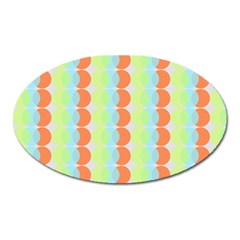 Circles Orange Blue Green Yellow Oval Magnet