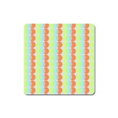Circles Orange Blue Green Yellow Square Magnet