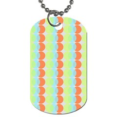 Circles Orange Blue Green Yellow Dog Tag (Two Sides)